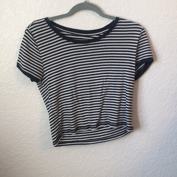 Aeropostale Tops - Blue and white striped tee